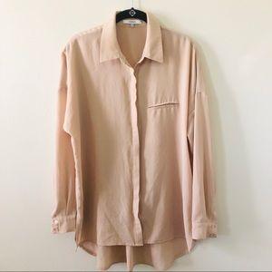 Ro & De   Button down blouse   Tan   Size M
